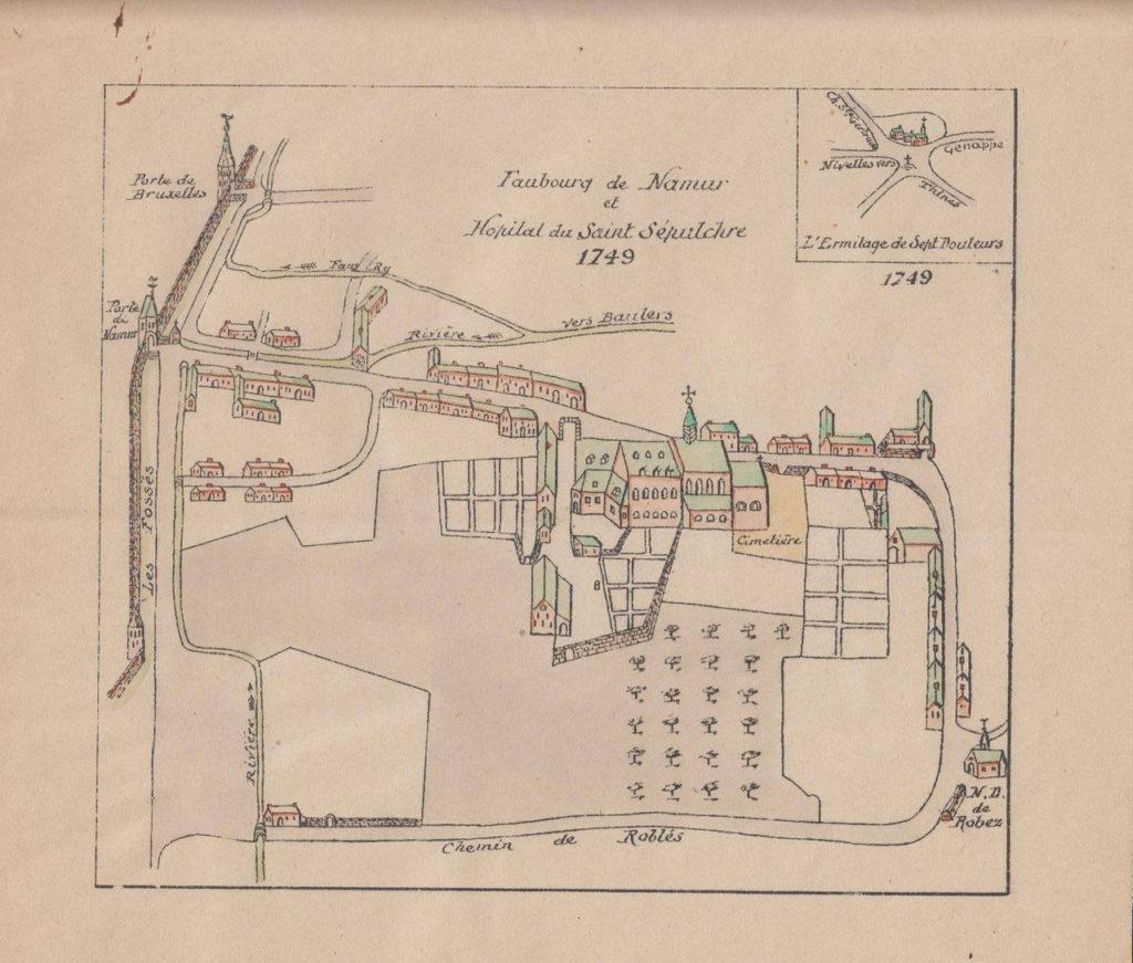 1749 - Plan du quartier Roblet (collection famille Collet)